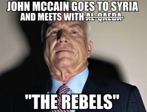 JohnMccainMeetsSyrianrebels
